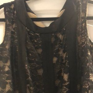 Black lace and sheer dress